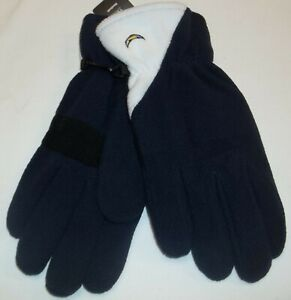 Reebok Los Angeles Chargers Fleece Winter Gloves - Men's Size Large - NWT