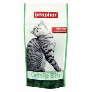 Beaphar Catnip Cat Bits Delicious Healthy Treats Cat Kitten Snack Pack 75 Pack