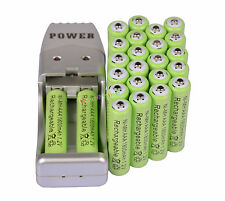 24X AAA 3A 1800mah1.2V NiMH rechargeable battery Green+USB Charger