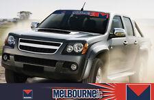 MELBOURNE DEMONS AFL TEAM COLOUR BLOCK OUT CAR WINDOW VISOR STICKER SUNRISE EDT