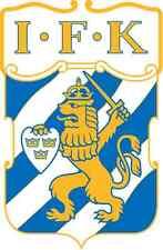 """IFK Goteborg Sweden Soccer Football Car Bumper Sticker Decal 4"""" x 5"""""""