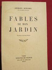 FABLES DE MON JARDIN - Georges DUHAMEL - Mercure de France - 1944