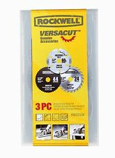 RW9232K Rockwell VERSACUT 3PC SAW BLADE SET