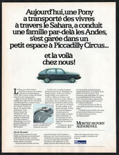 1984 HYUNDAI Pony GL Vintage Original Print AD - Black car photo French Canada