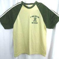 Vintage 1984 Raglan T Shirt Mens Size L Tan Golf Made USA 50/50 Single Stitch