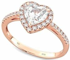 Cubic Zirconia Solitaire Simulated Fine Rings