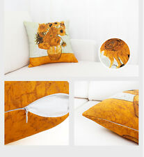 45*45cm Van Gogh Sunflowers Art Polyester Cushion Cover Giclee Oil Printing