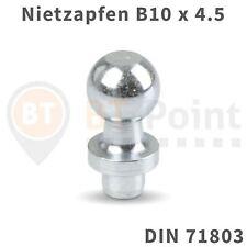 Nietzapfen B10mm x 4,5 DIN71803 Kugelkopf Kugel Zapfen Kopf Gasfeder Kugelzapfen