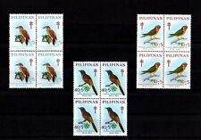 PHILIPPINES - 1969 - BIRDS - WOODPECKER - LORIKEET - MINIVET - 3 X MINT BLOCKS!