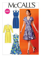 McCall's Sewing Pattern M6959  Womens 14-22 Easy Wrap Dresses & Belt