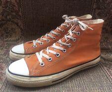 Vintage Chuck Taylor Converse  Hi-Top Orange Size 10.5