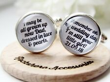 Still Your Little Girl Personalised Dad Father Of The Bride Wedding Cufflinks