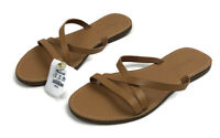 Madewell The Boardwalk Skinny-Strap Slide Sandal Desert Camel Women's Size 8.5