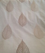 12 Metres Prestigious Skeletal Leaf Curtain & Interior Fabric In Biscuit White
