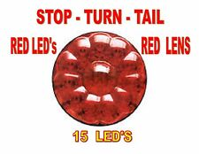 """LED 4"""" STOP,TURN,TAIL LAMP 15 LEDs - RED/ RED -  FREIGHTLINER  PETERBILT   KW"""