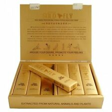 Spanish Gold Fly Drops ONE FULL BOX 12 Tubes Female Sexual Enhancer