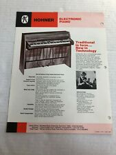 VTG HOHNER ELECTRONIC PIANO CATALOG AD KEYBOARD PIANET BROCHURE PAMPHLET