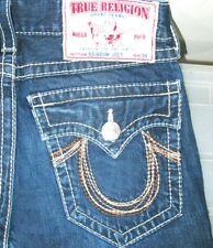 *HOT Men's TRUE RELIGION JOEY RAINBOW FLARE BOOTCUT DARK Jeans 30x30 (Fit 31x30)