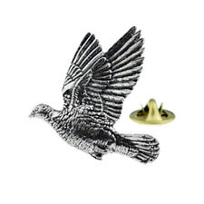 Woodpigeon Bird English Pewter Lapel Pin Badge XTSPBB34