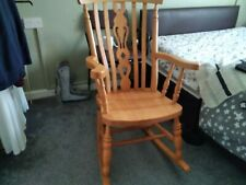 Wooden Rocking Chair Pre Owned In Good Condition collection only