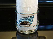 VINTAGE NFL JACKSONVILLE JAGUARS GLASS LOW BALL TUMBLER DRINK GLASS