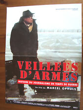 AFFICHE VEILLEES D'ARMES MARCEL OPHULS DOCUMENTAIRE 1994 40 X60 CM