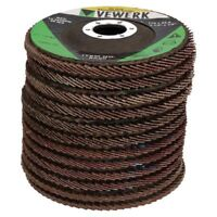 "12 x Flat Flap Discs Mixed Grit For Angle Grinder 4.5"" (115mm) Sanding Grinding"