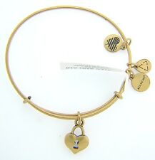 NEW ALEX AND ANI KEY TO MY HEART CHARM BANGLE WITH GOLD FINISH 21