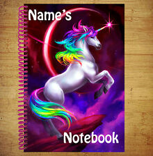 Unicorn Personalised A5 Notebook / Pad For Drawings Diary Thoughts Lists Poems