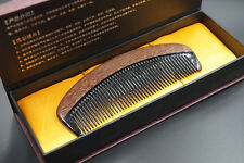 Nature OX Horn Red Sandal Beard Brush Mustache Comb Lady Fine Teethed Hair Comb