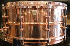 Ludwig 6.5x14 Smooth Copper Phonic Snare Drum with Copper Hardware/ Die-cast Hoo