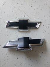 17-19 Chevrolet Sonic Hatchbac Black Bowtie Emblems- Front & Rear- GM # 42475828