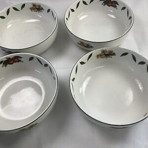 """4 Cades Creek By WSP  Round Serving Bowl With Apple & Leaf Pattern 7"""" Round"""
