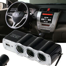3 Way Triple USB Car Cigarette Lighter Socket Splitter Charger Power Adapter