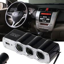 3 Way Triple USB Car Cigarette Lighter Socket Splitter Charger Power Adapter