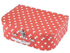 Spielzeugkoffer Pappe Metallgriff Köfferchen Reisekoffer Gutschein Koffer Kinder