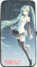 Vocaloid Hatsune Miku Classic Black Checkbook Wallet NEW