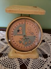 Vintage Family Baby Nursery Scale Bath Decor Old Patina Works 30 Lbs Antique
