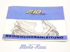 Malaguti F 10 Jetline  Fahrerhandbuch Anleitung Bedienungsanleitung