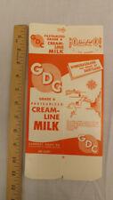 Vtg NOS GDC Guernsey Diary Co Qt. Cream-Line Milk Carton Oshkosh WIsconsin