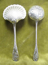 1900 french sterling silver strawberry server sugar sifter spoon rococo