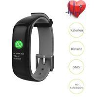 Smartband P1 Grau Plus Blutdruck Uhr Smartwatch Sportuhr Fitness Armband Tracker
