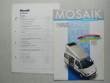 Prospekt Ford Transit Mosaik von Westfalia, 9.1987, 6 Seiten,folder + Preisliste