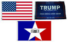 3x5 Trump #1 & USA American & City of San Antonio Wholesale Set Flag 3'x5'