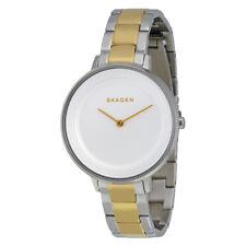 Skagen Ditte SKW2339 de dos tonos de acero inoxidable reloj de señoras - 2 Años De Garantía