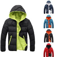 US HOT Men Winter Hooded Duck Down Warm Jacket Outwear Ski Thicken Puffer Coat