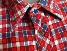 Mediumtrue Vtg 70's Blue/Red Rugged Thin Cotton Plaid Flannel Logger Shirt