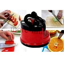 Cocina afilador de cuchillos de seguridad con ventosa seguro
