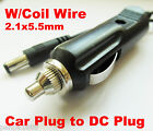 1pc Car Cigarette Lighter Power Supply to DC Plug 2.1mm x5.5mm Cable