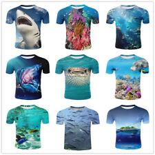 Underwater World Fish Casual Women Men T-Shirt 3D Print Short Sleeve Tee Tops